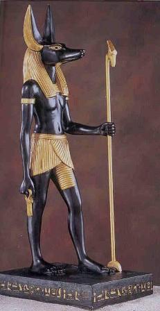 The Ancient Egyptian god Anubis