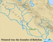 A map of Nimrod/s empire in ancient Mesopotamia.