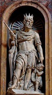 A Statue of King David by Nicolas Cordier