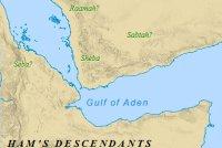Ham's descendants in Africa and Arabia.