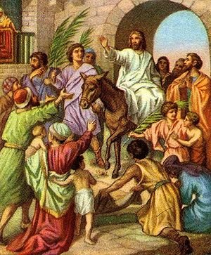 Jesus' Triumphal Entry through the Eastern Gate.
