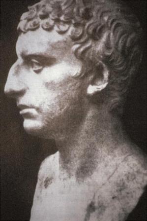 A sculpture of Flavius Josephus.