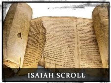 A picture of the Isaiah Scroll discovered in the caves near the Dead Sea.
