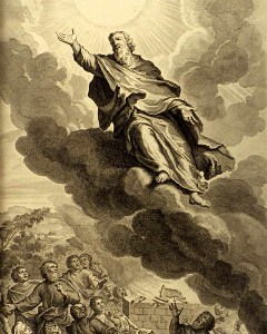A Painting of Enoch the Prophet Ascending Into Heaven