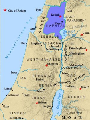 A map of the Tribe of Naphtali.
