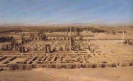 Ruins from ancient Persepolis, capital of the Persian Empire.