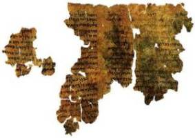 A scroll fragment from the Book of Enoch