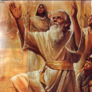 A Painting of Enoch the Prophet Worshiping God