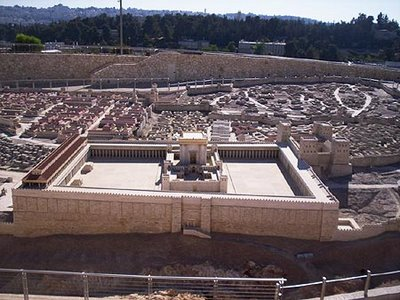 A model of the Temple Herod built which was destroyed by Rome in 70 AD.
