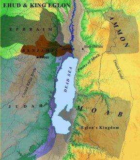 A map of the setting between Ehud & Eglon.
