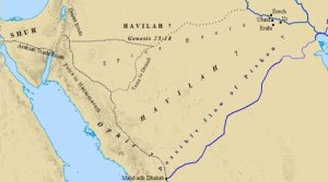 A possible map of the Garden of Eden's Pishon River.