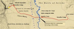 A map of the battle of Jericho.
