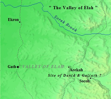 David and Goliath fought in the Valley of Elah