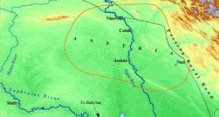 Map of Ancient Assyrian Heartland