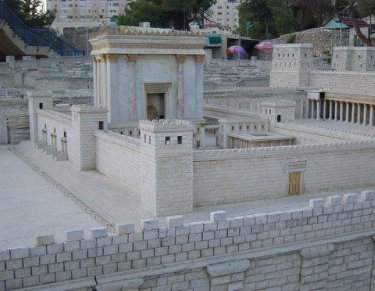 A model of the Jewish Temple in the first-century AD.