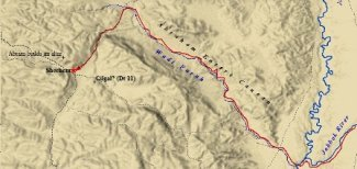 Abraham entered the land of Canaan using the Wadi Ferah.