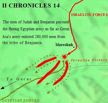 A Closer Look at the Battle of Mareshah in II Chronicles 14