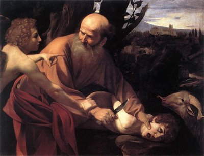 A Painting of Abraham Binding Isaac