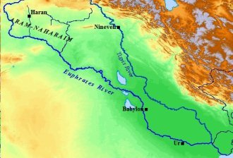 A map of the Tigris & Euphrates Rivers