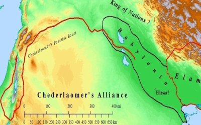 A Map of King Chederlaomer's alliance of kings.