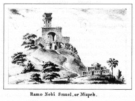 A sketch of ancient Mizpah - an important place for national gatherings in ancient Israel.