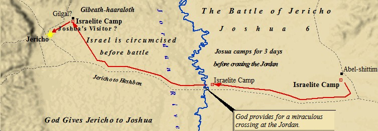 An overview of the Battle of Jericho. Israel moved camp from Shittim to Gilgal, outside of Jericho. They then marched on the city for seven days.