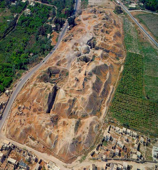 An aerial view of ancient Jericho. Jericho archaeology has shed invaluable light on antiquity.