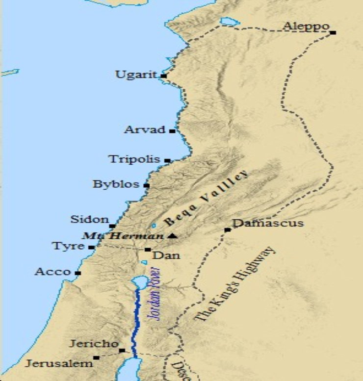 The major cities of ancient Lebanon developed along its long coast.