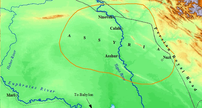 The Assyrian Empire was born on the banks of the Tigris River.