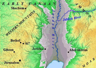 An Old Testament map of Early Canaan.