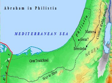 Abraham lived for a time in Philistia, amongst the Philistines.