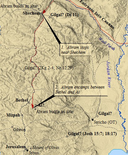 Map of Abraham in Ancient Jerusalem