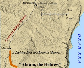 Abraham dwelt in Mamre, near Hebron
