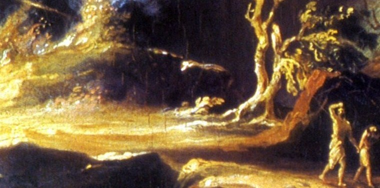 Thomas Cole portrays Adam and Eve leaving Eden (1812)