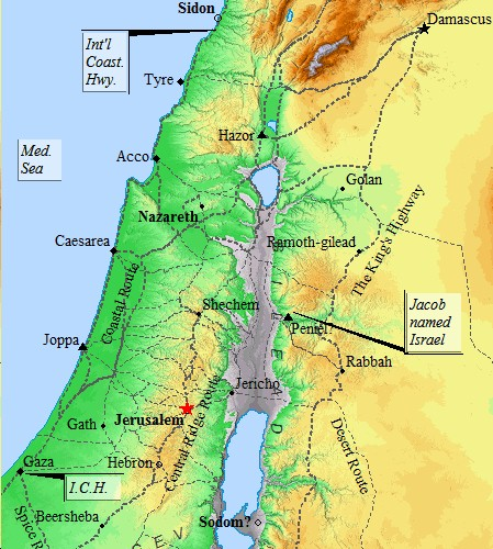 Ancient Palestine was a complex network of individual city-states, connected by an extensive road network.
