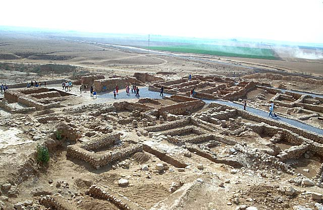 A picture of ruins from ancient Beersheba.