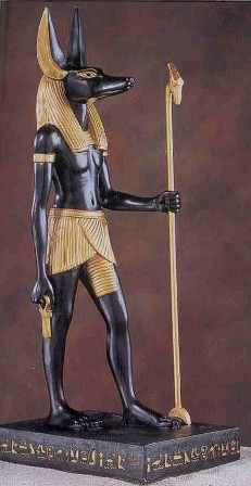 The Ancient Egyptian god Anubis