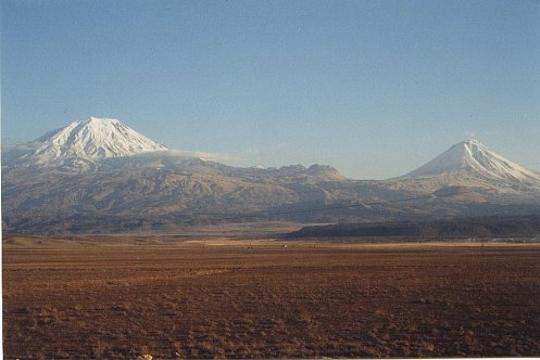 The Peak of Mt Ararat on the left