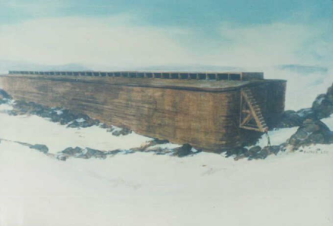 Noah's Ark on Ararat after the Biblical Flood