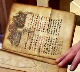 A picture of the book of Enoch from Ethiopia.