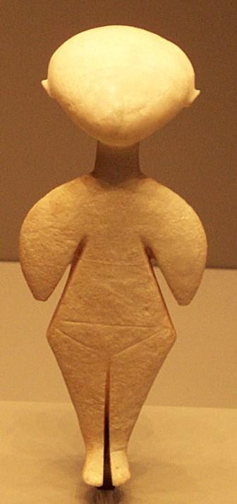 A Cycladic Stargazer from the ancient Etruscans.