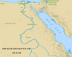 Sons of Noah: Map of Ham's Descendants in Egypt.