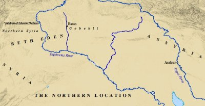 A Map of the Northern Site of the Biblical Garden of Eden