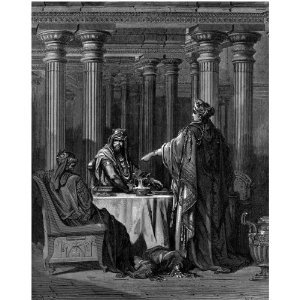 Queen Esther of the Bible: Gustav Dore's Painting of Esther's Banquet