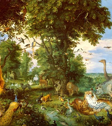 an artists interpretation of the biblical garden of eden - Edens Garden