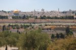 A view of the East Gate and Dome of the Rock from the Mt. of Olives.