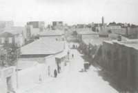 A picture of the Jaffa Gate in 1890.