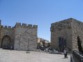 A picture of the plaza just inside the Jaffa Gate.