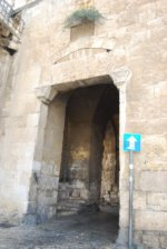 The entrance of the Zion Gate leading into Jerusalem.