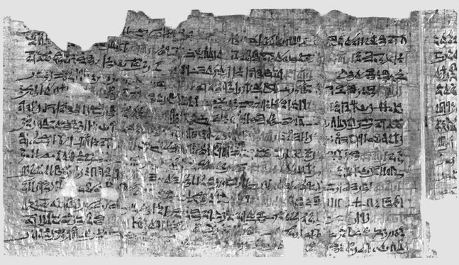 The Ipuwar Papyrus describes an Egypt in total chaos